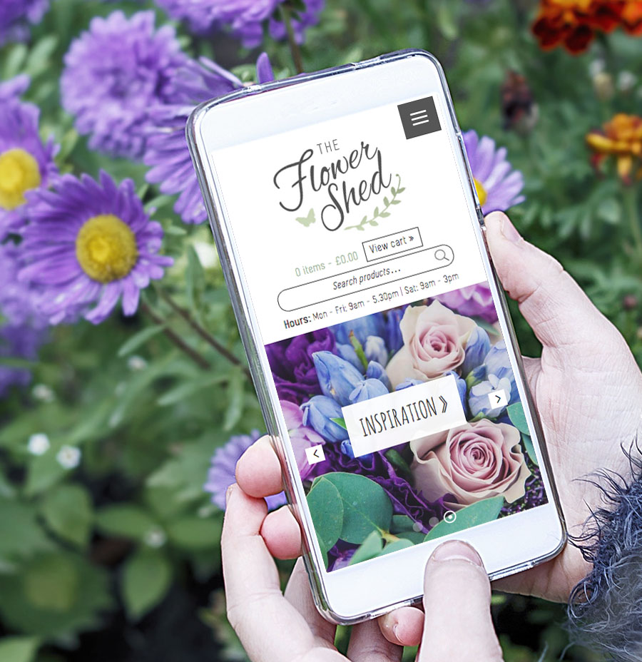 flower shed responsive web design