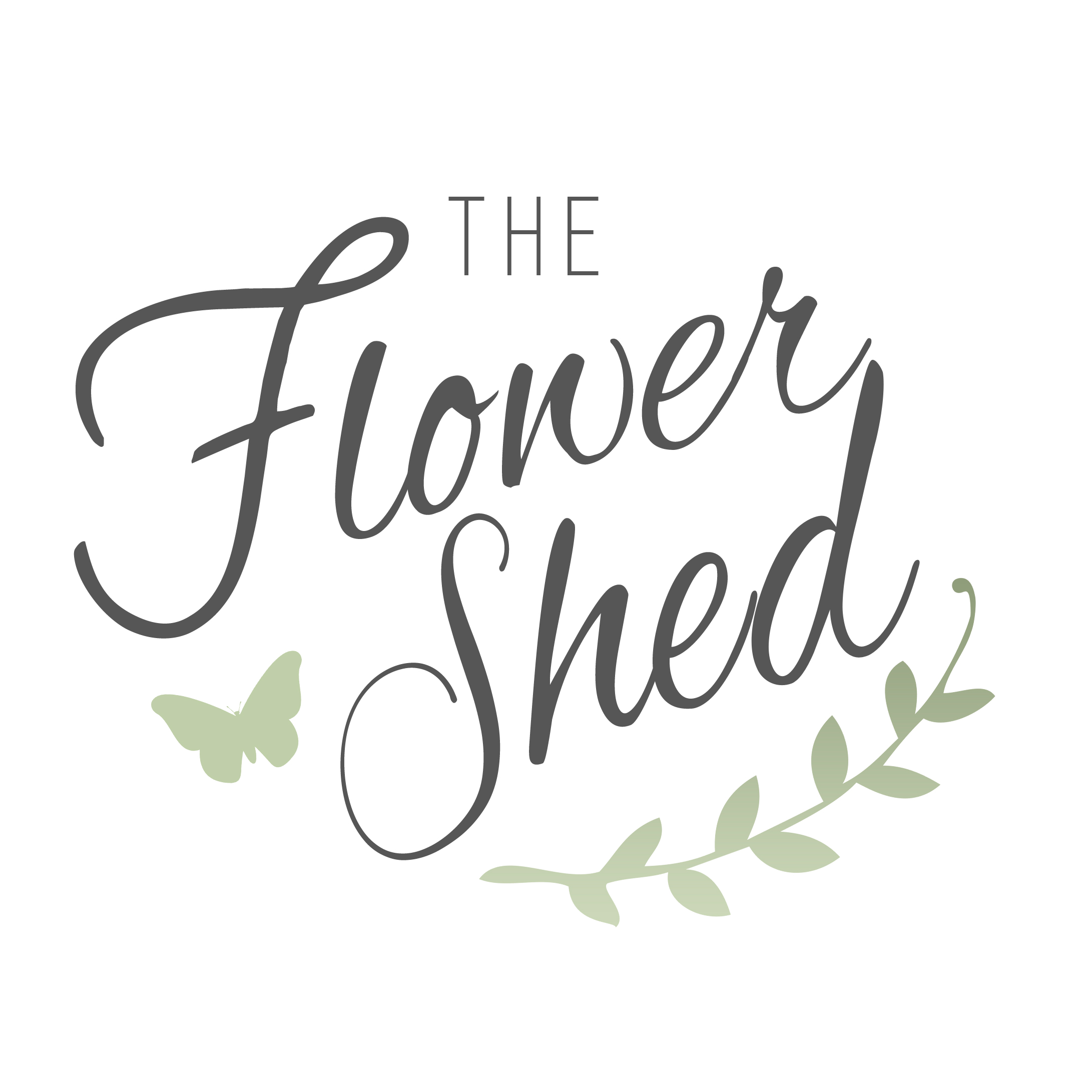flower shed logo design